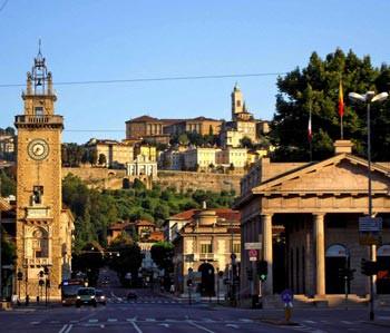 City center and Bergamo Alta